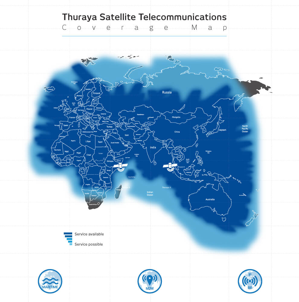Thuraya map